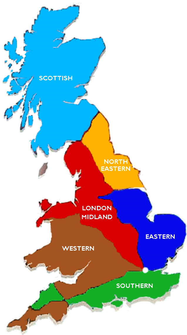 Map Of Uk With Regions.Uk Region Map For Website Railway Station Cottages