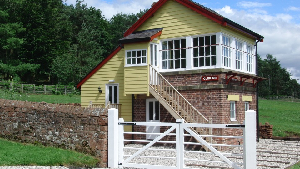 Cliburn Signal Box as it is now in August 2012